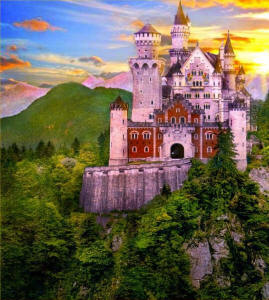 neuschweinstein castle on south Germany tour